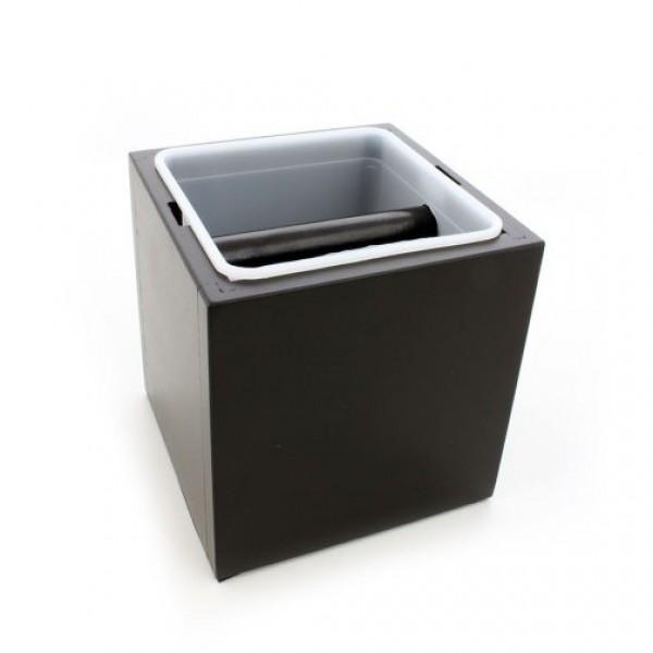 Drevený Knock box (Oklepávač na kávu) - Čierny